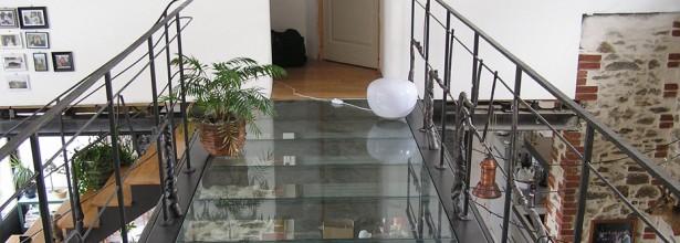 Escaliers et passerelles - Atelier Couliou Angers 49