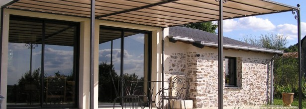 Fabrication et pose pergola - Atelier Couliou Angers